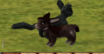 A pair of Meeros on a farm in Second Life.
