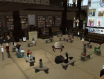Virtual Pioneers gather at the Virtual Pioneers headquarters prior to a field trip.