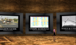 Checking out the Conference schedule at the VWBPE Gateway on Second Life.