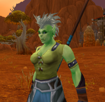 A small change - My new year WoW Toon, a little out of my comfort zone an Orc Warlock.