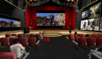 Educators attend Machinima previews in an immersive enviornmentng