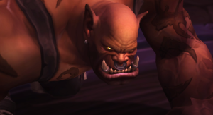 "A screenshot of a video in the WoW, provides that ""up-close, you are there"" feeling."